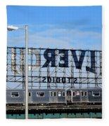 Urban Landscape Long Island City Fleece Blanket
