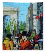 Urban Story - Champs Elysees Fleece Blanket