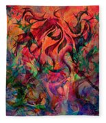 Urn Of The Fire Fleece Blanket