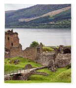 Urquhart Castle I Fleece Blanket