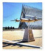 Us Air Force Academy Chapel Fleece Blanket