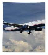 Us Airways A330-200 N280ay Fleece Blanket