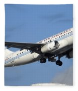 Us Airways Airbus A319-132 N828aw Phoenix Sky Harbor December 23 2010 Fleece Blanket