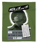 Vintage Us Army Recruiting Poster Fleece Blanket