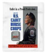 Us Cadet Nurse Corps - Ww2 Fleece Blanket