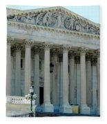 Us Capitol - Back Side Fleece Blanket