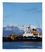 Us Coast Guard Fleece Blanket