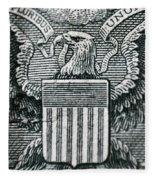 Us Dollar Eagle Fleece Blanket