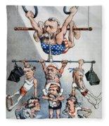 U.s. Grant Cartoon, 1880 Fleece Blanket