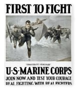 Us Marine Corps - First To Fight  Fleece Blanket
