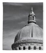 U.s. Naval Academy Chapel Dome Bw Fleece Blanket