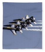Us Navy Blue Angels Fleece Blanket