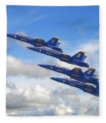 Us Navy - Blue Angels Fleece Blanket