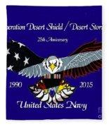 Us Navy Desert Storm Fleece Blanket