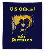 U.s. Official War Pictures Fleece Blanket