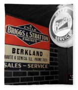 Us Route 66 Briggs And Stratton Signage Sc Fleece Blanket