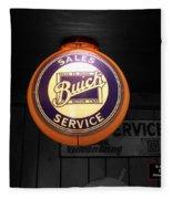 Us Route 66 Buick Sales Globe 02 Sc Fleece Blanket