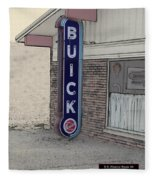 Us Route 66 Smaterjax Dwight Il Buick Signage Pa 04 Fleece Blanket