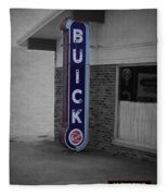 Us Route 66 Smaterjax Dwight Il Buick Signage Sc Fleece Blanket