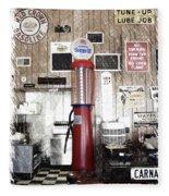 Us Route 66 Smaterjax Dwight Il Gas Pump 01 Pa 01 Fleece Blanket