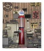 Us Route 66 Smaterjax Dwight Il Gas Pump 01 Pa 02 Fleece Blanket