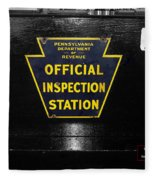 Us Route 66 Smaterjax Dwight Il Official Inspection Signage Fleece Blanket