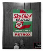 Us Route 66 Smaterjax Dwight Il Sky Chief Supreme Signage Fleece Blanket