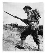 U.s World War II Infantry, 1942 Fleece Blanket
