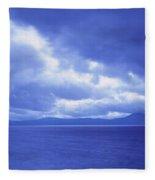 Usa, California, Lake Tahoe, Storm Fleece Blanket