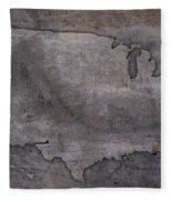 Usa Map Outline On Concrete Wall Slab Fleece Blanket