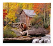 Usa, West Virginia, Glade Creek Grist Fleece Blanket