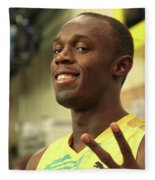 Usain Bolt  Fleece Blanket