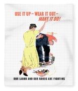 Use It Up - Wear It Out - Make It Do Fleece Blanket