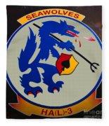 Usn Seawolves Logo Fleece Blanket