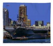 Uss Midway San Diego Ca Fleece Blanket