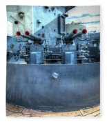 Uss North Carolina, Bb 55, 40mm Guns Fleece Blanket