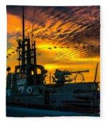 U.s.s. Silversides Sunset Fleece Blanket