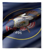 Utah State Flag Fleece Blanket
