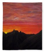 Utah Sunset Fleece Blanket