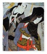 Utamaro: Lovers, 1797 Fleece Blanket