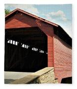 Utica Mills Covered Bridge Fleece Blanket
