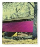 Utica Mills Covered Bridge Fleece Blanket