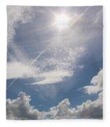 V Cloud Under The Sun  Fleece Blanket