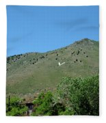 V For Virginia City Nv Mail Drop Fleece Blanket
