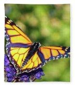 V Shaped Monarch  Fleece Blanket