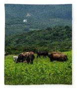 Vacas De Ahuachapan Fleece Blanket