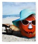 Vacationing Jack-o-lantern Fleece Blanket