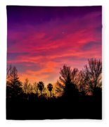 Vacaville Sunset Silhouette  Fleece Blanket