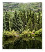 Vail Reflections In The Summer Fleece Blanket