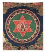 Vajravarahi Mandala Fleece Blanket
